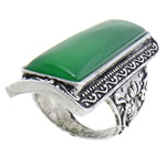 Ring Finger gur i çmuar, Malajzia Jade, 22.5x51.5mm, 19mm, :8, 10PC/Qese,  Qese