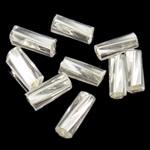 Twist Bugles rruaza farë Glass, Seed Glass Beads, Tub, kthesë, 2x5mm, : 1mm,  Qese