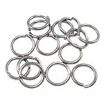 Iron Mbyllur Ring Jump, Hekur, Petull e ëmbël në formë gjevreku, plumbit ngjyrë të zezë praruar, asnjë, , nikel çojë \x26amp; kadmium falas, 0.90x7mm, : 5.5mm,  Qese