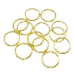 Iron Mbyllur Ring Jump, Hekur, Petull e ëmbël në formë gjevreku, ngjyrë ari praruar, asnjë, , nikel çojë \x26amp; kadmium falas, 0.90x8mm, : 6mm, 8850PC/Qese,  Qese