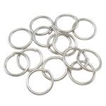 Iron Mbyllur Ring Jump, Hekur, Petull e ëmbël në formë gjevreku, ngjyrë platin praruar, asnjë, , nikel çojë \x26amp; kadmium falas, 0.90x8mm, : 6mm,  Qese