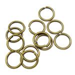 Iron Mbyllur Ring Jump, Hekur, Petull e ëmbël në formë gjevreku, Ngjyra antike bronz i praruar, asnjë, , nikel çojë \x26amp; kadmium falas, 0.80x6mm, : 4.5mm, 16666PC/Qese,  Qese