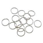 Iron Mbyllur Ring Jump, Hekur, Petull e ëmbël në formë gjevreku, ngjyrë platin praruar, asnjë, , nikel çojë \x26amp; kadmium falas, 0.70x6mm, : 4.5mm,  Qese