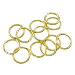 Iron Mbyllur Ring Jump, Hekur, Petull e ëmbël në formë gjevreku, ngjyrë ari praruar, asnjë, , nikel çojë \x26amp; kadmium falas, 0.70x6mm, : 4.5mm, 16666PC/Qese,  Qese