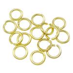 Iron Mbyllur Ring Jump, Hekur, Petull e ëmbël në formë gjevreku, ngjyrë ari praruar, asnjë, , nikel çojë \x26amp; kadmium falas, 0.80x5mm, : 3mm, 14200PC/Qese,  Qese