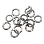 Iron Mbyllur Ring Jump, Hekur, Petull e ëmbël në formë gjevreku, plumbit ngjyrë të zezë praruar, asnjë, , nikel çojë \x26amp; kadmium falas, 0.70x4mm, : 3mm, 20000PC/Qese,  Qese