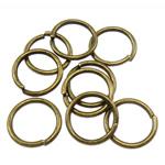 Iron Mbyllur Ring Jump, Hekur, Petull e ëmbël në formë gjevreku, Ngjyra antike bronz i praruar, asnjë, , nikel çojë \x26amp; kadmium falas, 1x9mm, : 7mm, 6060PC/Qese,  Qese