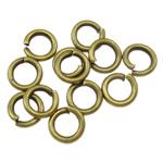 Iron Mbyllur Ring Jump, Hekur, Petull e ëmbël në formë gjevreku, Ngjyra antike bronz i praruar, asnjë, , nikel çojë \x26amp; kadmium falas, 1x5mm, : 3mm, 16666PC/Qese,  Qese