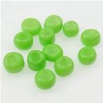 Opaque Glass Beads Seed, Seed Glass Beads, e gjelbër, 2x3mm, : 1mm,  Qese