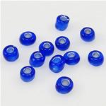 Silbereinzug Glas Rocailles, Glas-Rocailles, tiefblau, 2x3mm, Bohrung:ca. 1mm, verkauft von Tasche