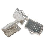 Iron Ribbon rekrutues, Hekur, Drejtkëndësh, ngjyrë platin praruar, asnjë, , nikel çojë \x26amp; kadmium falas, 10x8x6mm, : 3x1.5mm, 5000PC/Qese,  Qese