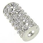 Beads bizhuteri Diamant i rremë, Tub, asnjë, me diamant i rremë, Kristal, 32.50x15mm, : 6mm, 20PC/Qese,  Qese