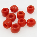 Opaque Glass Beads Seed, Seed Glass Beads, i kuq, 3x3.60mm, : 1mm,  Qese