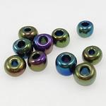 Rainbow Seed Glass Beads, 3x3.60mm, : 1mm,  Qese