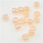 Ceylon Glas-Rocailles, Rosa, 3x3.60mm, Bohrung:ca. 1mm, verkauft von Tasche