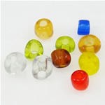 Seed Glass Beads përziera, i përzier, 3x3.60mm, : 1mm,  Qese