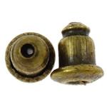 Iron Komponenti veshit Nut, Hekur, Ngjyra antike bronz i praruar, asnjë, , nikel çojë \x26amp; kadmium falas, 6x5mm, : 1mm, 10000PC/Qese,  Qese