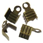 Këshilla Cord Hekuri, Ngjyra antike bronz i praruar, asnjë, , nikel çojë \x26amp; kadmium falas, 7.50x5x4mm, : 1.3mm, 10000PC/Qese,  Qese