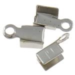 Këshilla Cord Hekuri, ngjyrë platin praruar, asnjë, , nikel çojë \x26amp; kadmium falas, 7x4x2.50mm, : 1.3mm, 10000PC/Qese,  Qese
