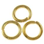 Iron Mbyllur Ring Jump, Hekur, Petull e ëmbël në formë gjevreku, ngjyrë ari praruar, asnjë, , nikel çojë \x26amp; kadmium falas, 1x6mm, : 4mm, 16666PC/Qese,  Qese