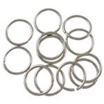 Iron Mbyllur Ring Jump, Hekur, Petull e ëmbël në formë gjevreku, ngjyrë platin praruar, asnjë, , nikel çojë \x26amp; kadmium falas, 1x10mm, : 8mm, 6060PC/Qese,  Qese