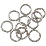 Iron Mbyllur Ring Jump, Hekur, Petull e ëmbël në formë gjevreku, ngjyrë platin praruar, asnjë, , nikel çojë \x26amp; kadmium falas, 1.20x8mm, : 5.5mm, 8850PC/Qese,  Qese