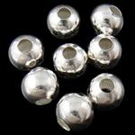 Beads bizhuteri Hekuri, Round, Ngjyra argjend praruar, asnjë, , nikel çojë \x26amp; kadmium falas, 6mm, : 2.5mm, 5000PC/Qese,  Qese