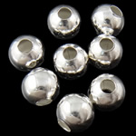 Beads bizhuteri Hekuri, Round, Ngjyra argjend praruar, asnjë, , nikel çojë \x26amp; kadmium falas, 4mm, : 1.5mm, 10000PC/Qese,  Qese