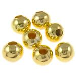 Beads bizhuteri Hekuri, Round, ngjyrë ari praruar, asnjë, , nikel çojë \x26amp; kadmium falas, 8mm, : 3mm, 5000PC/Qese,  Qese