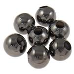 Beads bizhuteri Hekuri, Round, plumbit ngjyrë të zezë praruar, asnjë, , nikel çojë \x26amp; kadmium falas, 5mm, : 2mm, 10000PC/Qese,  Qese