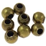 Beads bizhuteri Hekuri, Round, Ngjyra antike bronz i praruar, asnjë, , nikel çojë \x26amp; kadmium falas, 4mm, : 1.5mm, 10000PC/Qese,  Qese