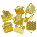 Iron Ribbon rekrutues, Hekur, Drejtkëndësh, ngjyrë ari praruar, asnjë, , nikel çojë \x26amp; kadmium falas, 7.50x6x5.50mm, : 2x1mm, 5000PC/Qese,  Qese