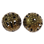 Beads bizhuteri Hekuri, Round, ngjyrë bakri të praruar antike, asnjë, , nikel çojë \x26amp; kadmium falas, 8mm, : 0.7mm, 5000PC/Qese,  Qese