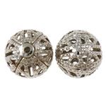 Beads bizhuteri Hekuri, Round, ngjyrë platin praruar, asnjë, , nikel çojë \x26amp; kadmium falas, 10mm, : 1mm, 5000PC/Qese,  Qese