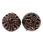 Beads bizhuteri Hekuri, Round, ngjyrë bakri të praruar antike, asnjë, , nikel çojë \x26amp; kadmium falas, 8mm, : 0.7mm, 10000PC/Qese,  Qese