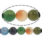 Natürliche Regenbogen Achat Perlen, rund, facettierte, 6mm, Bohrung:ca. 0.8-1mm, Länge:ca. 14.5 ZollInch, 10SträngeStrang/Menge, ca. 60PCs/Strang, verkauft von Menge