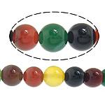 Natürliche Regenbogen Achat Perlen, rund, 4mm, Bohrung:ca. 0.8-1mm, Länge:ca. 14.5 ZollInch, 10SträngeStrang/Menge, ca. 90PCs/Strang, verkauft von Menge