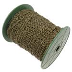 Zinxhiri Iron Oval, Hekur, ngjyrë bakri të praruar antike, asnjë, , nikel çojë \x26amp; kadmium falas, 3.80x2.80x0.70mm, :100m,  PC