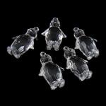Pendants akrilik, Kafshë, i tejdukshëm, 48.50x30.50x17mm, : 3.5mm, 55PC/Qese,  Qese