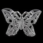 Beads transparente akrilik, Kafshë, i tejdukshëm, 37.50x54.50x5mm, : 1.2mm, 105PC/Qese,  Qese