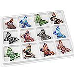 Pendants Lampwork Fashion, Kafshë, rërë ari dhe argjendi me letër varaku, ngjyra të përziera, 60.50x40x10mm, : 4.2mm, 12PC/Kuti,  Kuti