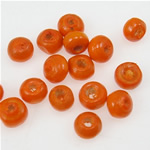 Beads druri, Rondelle, i lyer, portokall, 3x4mm, : 2mm, 20830PC/Qese,  Qese