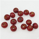 Beads druri, Round, i lyer, kuqe të errët, 4x5mm, : 2mm, 14705PC/Qese,  Qese