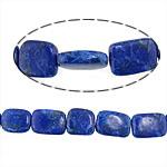 Regenbogen Venen Perlen, bunte Venen Stein, Rechteck, natürlich, blau, 12-13x14.5-18.5x5x5.5mm, Bohrung:ca. 0.8-1mm, ca. 21PCs/Strang, verkauft per ca. 15.5 ZollInch Strang