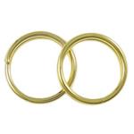 Unaza Hekuri Split, Petull e ëmbël në formë gjevreku, ngjyrë ari praruar, asnjë, , nikel çojë \x26amp; kadmium falas, 7x1mm, : 5.5mm, 11110PC/Qese,  Qese