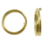 Unaza Hekuri Split, Petull e ëmbël në formë gjevreku, ngjyrë ari praruar, asnjë, , nikel çojë \x26amp; kadmium falas, 6x1mm, : 4.7mm, 13330PC/Qese,  Qese