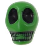 Antike Acrylperlen, Acryl, Schädel, opark, antik imitieren, grün, 12.50x10x12mm, Bohrung:ca. 2mm, 595PCs/Tasche, verkauft von Tasche