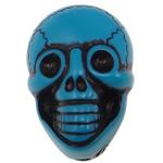 Antike Acrylperlen, Acryl, Schädel, opark, antik imitieren, blau, 25.50x17.50x14mm, Bohrung:ca. 2.5mm, 150PCs/Tasche, verkauft von Tasche