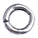 Alloy zink Jump Rings, Petull e ëmbël në formë gjevreku, Ngjyra antike argjendi praruar, asnjë, , nikel çojë \x26amp; kadmium falas, 10x2mm, : 6.3mm, 2500PC/Qese,  Qese