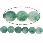 Marmor Naturperlen, gefärbter Marmor, rund, grün, 6mm, Bohrung:ca. 1mm, Länge:ca. 16 ZollInch, 5SträngeStrang/Menge, verkauft von Menge